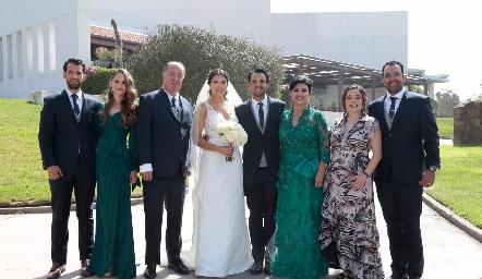 Familia Romo Reyes: Alejandro, Ivonne, Samuel, Diana, Samuel, Diana, Susana y Mauricio.