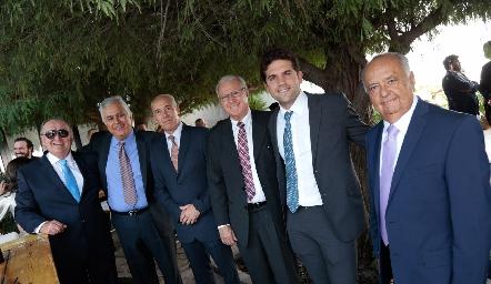 Héctor Vázquez, Manuel Martínez, Chepe Díaz Infante, Bernardo Reynoso, Federico Díaz Infante y Miguel Ángel Herrera.