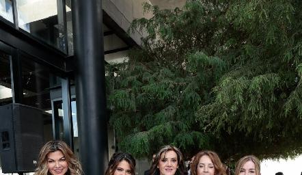 Claudia Hermosillo, Chelito Padrón, Oti Ruiz y Alma Orozco y Laura Cortazar.