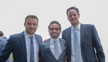 Diego de Luna, Efraín Barrera y Rodrigo Ruiz.