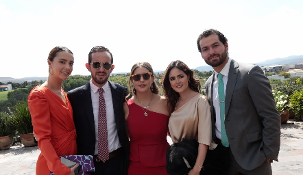 Mercedes Bárcena, Eduardo Zepeda, Isabela Castelo, Pau Aldrett y Chino Gonzalez.