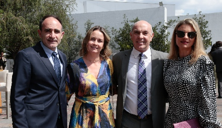 Juan Carlos Abaroa, Gaby Artolozoga, Carlos Hinojosa y Francine Coulon.