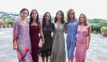 Midori Barral, Carmelita Del Valle, Claudia Villasana, Adri de la Maza, Benilde Hernández y Paulina Aguirre.