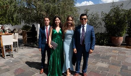 Jorge Del Valle, Montse Del Valle, Laura y Lisandro Bravo.