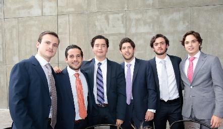 Santiago Corripio, Pablo Lavín, Juan Pablo Arriaga, Dago Castillo, Rodrigo Abud y José Lozano.