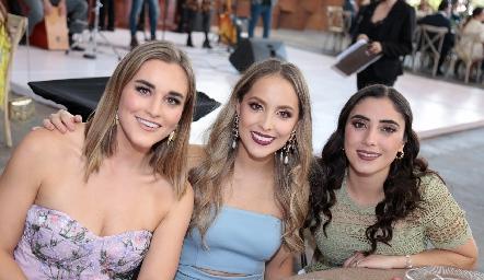 Pamela Rubio, Laura Bravo e Isabela Zollino.