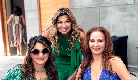 Chelito Padrón, Claudia Hermosillo y Graciela Valdez.