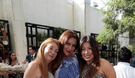 Gaby Culman, Flor Zarsa y Paola Grimes.