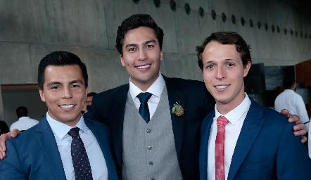 Lisandro Bravo, Rafael Villanueva y Jorge Del Valle.
