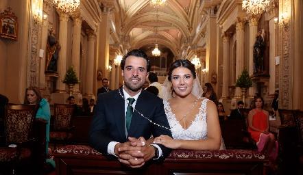 Samuel Romo y Diana Villanueva.