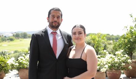 David Adamira y  María Inés Rodríguez.