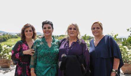 Begoña Cuanda, Diana Reyes de Romo, Carla Serna y Sole Piñero.