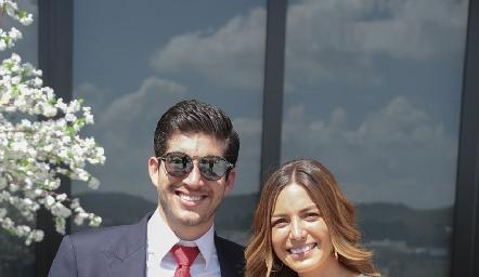 Sergio Fernández y Romina David.