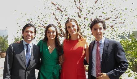 Gerardo Serrano, Marianela Villasuso, Izuca Gómez, Armando Lasso de la Vega.