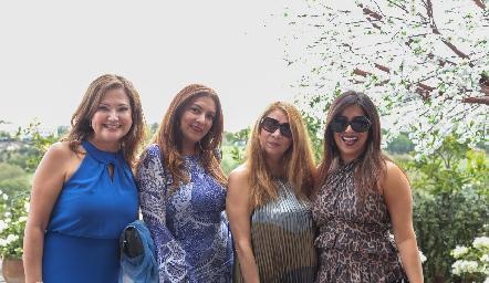 Patricia Gómez, Flor Zarza, Gaby Colman y Paola Grimes.