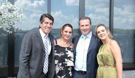 José Luis Tovilla, Ulah Tovilla, Fermín y Adriana Hernández.