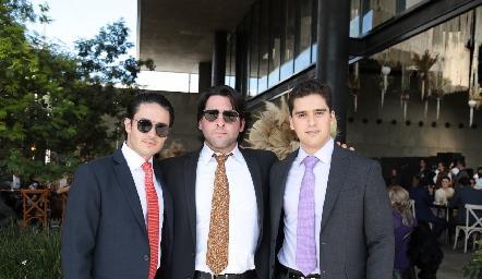Agustín Castillo, Antonio Esper y Alejandro Hinojosa.