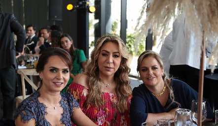 Alejandra Orozco, Claudia Hermosillo y Sole Piñero.