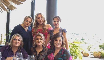 Sole Piñero, Claudia Hermosillo, Alejandra Orozco, Carla Serna, Oly Aradillas y Begoña Cuanda.