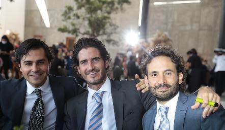 Javier Gómez, José Manuel Gómez y Efraín Barrera.