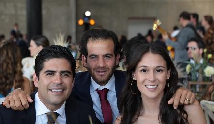 Mauricio Motilla, Samer Medlich y Carmen del Valle.