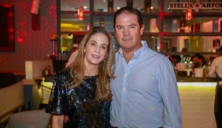Gabriela Lara y Jorge Acebo.