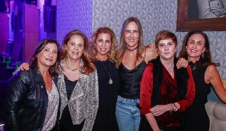 Maritere Cadena, Paty Fernández, Vero de Minondo, Adriana Pedroza, Claudia Hinojosa y Verónica Zepeda.