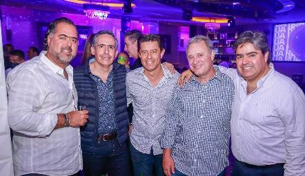 Chema de la Vega, Arturo Hinojosa, Andrés Martínez, Enrique Minondo y Paco Leos.