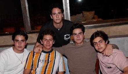 Javier Alcalde, Patricio Ojeda, Francisco Leos, Roberto Silva y Manuel Díaz Infante.