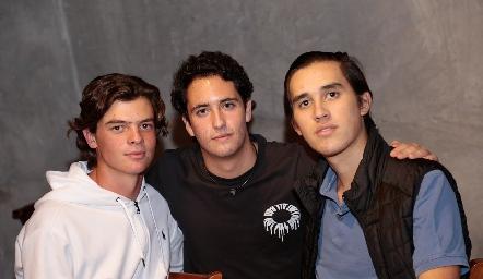 Juan Carlos Hernández Subirana, Roberto Silva y Marcelo Rodríguez.