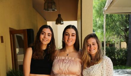 Alejandra Castrillón, Mariana Gómez y Sofía Medina.