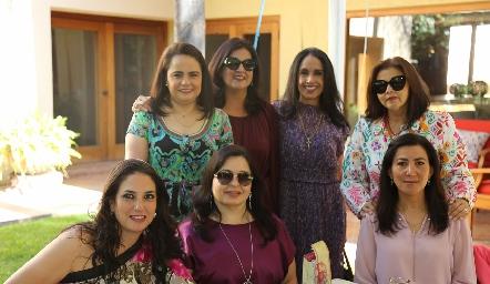 Coco Leos, Cynthia Sánchez, Rosy Hernández, Paty Valadés, Becky Alcalde, Gaby Martínez y Claudia Pozos.