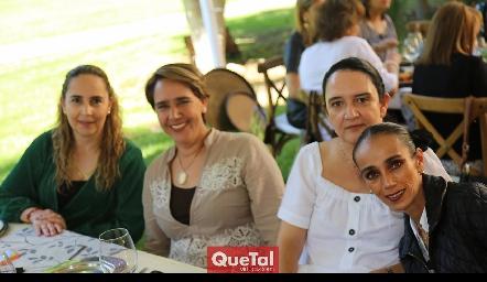 Claudia Cohen, Adriana Valle, Cecilia Hernández e Iliana Ramos.