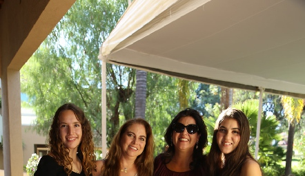 María Martin Alba, Alba Altamirano, Cynthia Sánchez y Natalia Gómez.