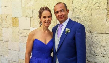 Valeria Sutti y Alejandro Herrera.