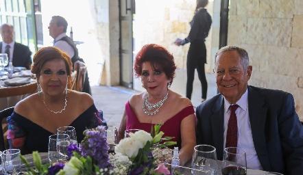 Marcela Herrera, Mirna Leticia Zapata y Aurelio Montiel.