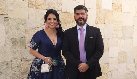 Evelyn Díaz de León y Rogelio Rico.