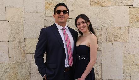 Santiago Sandoval e Ilse Díaz de León.