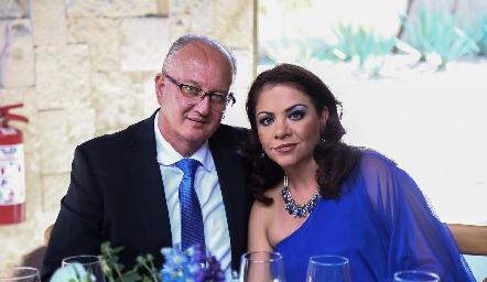 Javier y Mónica Michel.