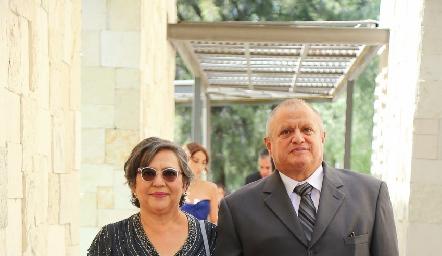 María Guadalupe y Ángel Díaz.