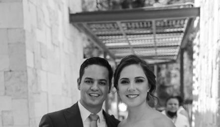 Luis González y Valeria Herrera.