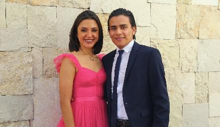 Viviana Martínez y Gabriel García.