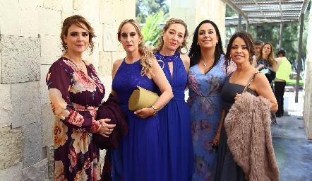 Alejandra Acebo, Ximena Ocejo, Maritere Meade, Marcela de la Maza y Marilupe Córdova.