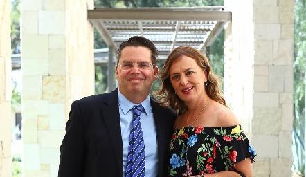 Toño Fonte y Marisol López.