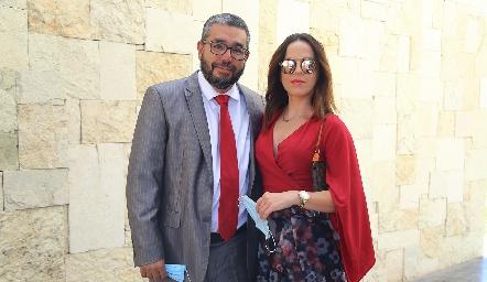 Aniceto González y Giselle García.