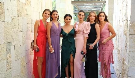 Ilse Siller, Valentina Salazar, Sofía Delgado, Luciana Abud, Carolina Duque y Bárbara Massa.