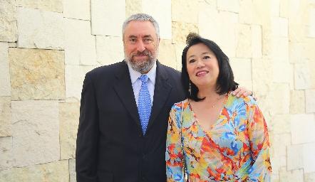 Luis Miguel y Diana Barral.