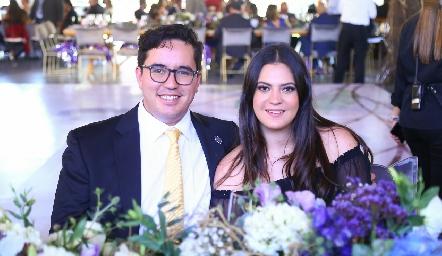 Luis Barral y Cecilia García.