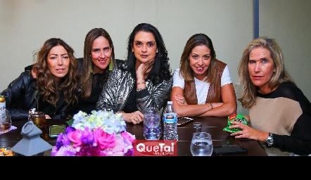 Anna Astrid Navarro, Adriana Pedroza, Maricel Gutiérrez, Cecilia Limón y Claudia Quiroz.