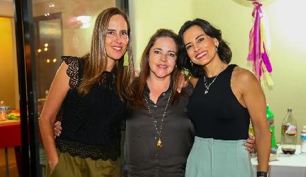Adriana Pedroza, Gaby Carreón y Anilú Enríquez.